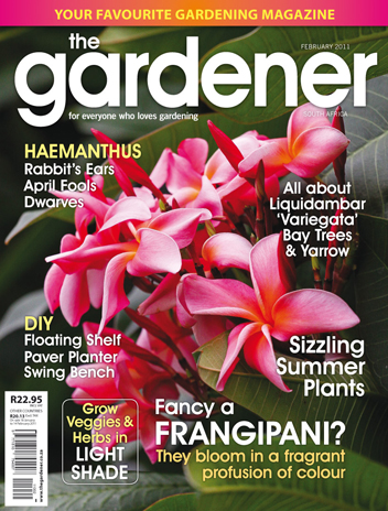 My Favourite Gardening Magazine Is The Gardener (South African Magazine).  The February Issue Has Just Arrived In The Shops So I Got It Today And As  Always ...