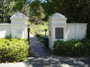 Entrance to Stellenbosch Botanical Garden
