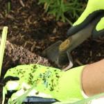 Groovey gardening gloves