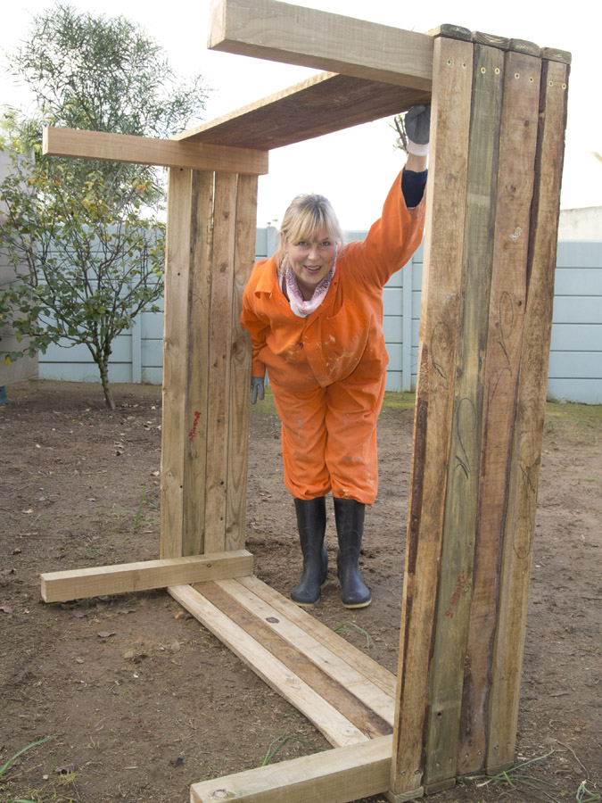 Building my raised bed garden by the gardening blog How to build a raised garden bed with legs