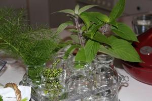 Keeping fresh in little herb vases