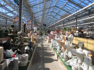 Rows and rows of pots and decor