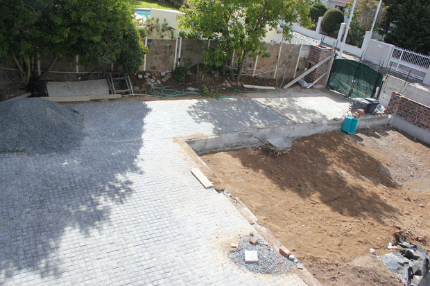 Front of the property (seen from above patio) - Far left